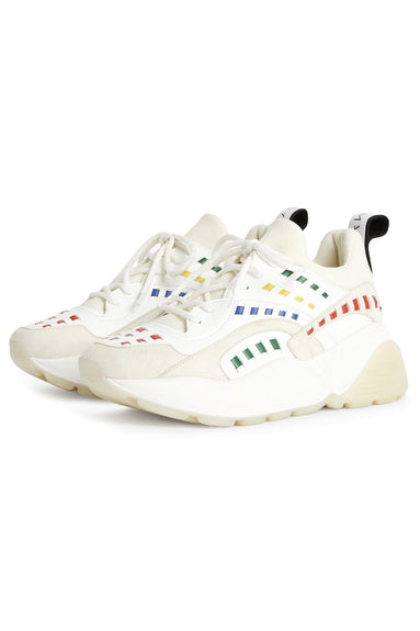 Plastic Sneaker in White/Multi