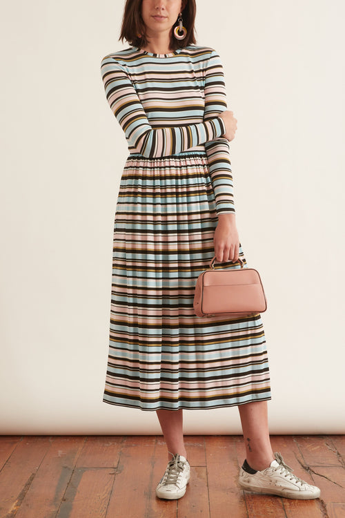 Joel Dress in Stripes Multi