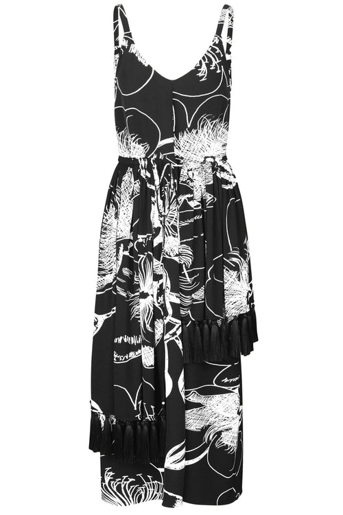 Basil Dress in Jasmine Black