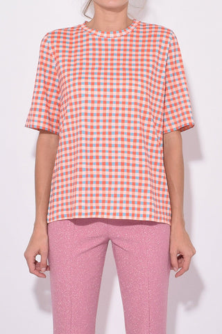 Leonie Tee in Gingham Clay