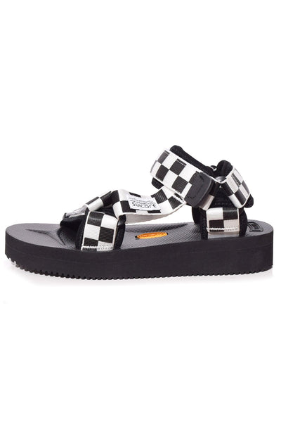 Depa V2 Check Sandal in Black