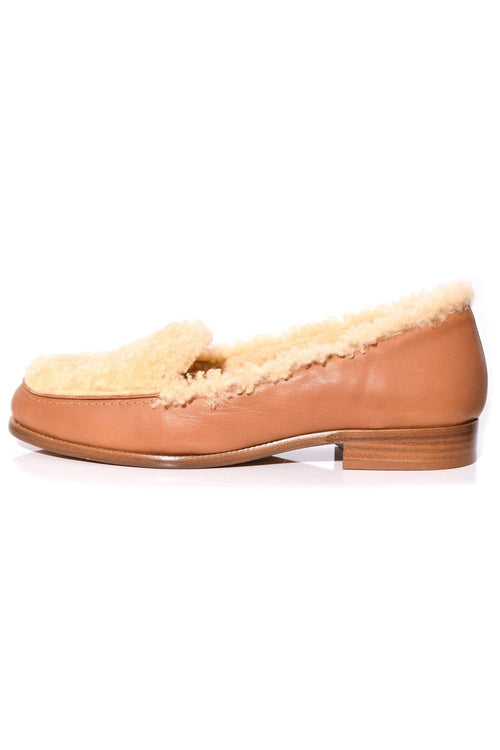 Blakie Loafer in Natural Shearling