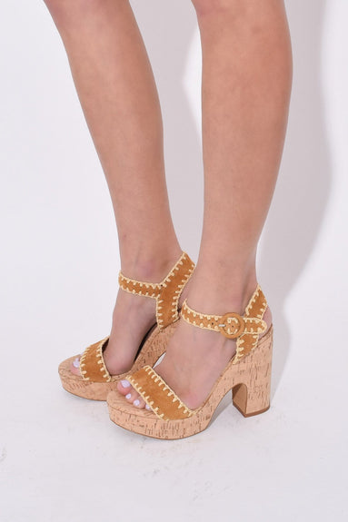 Elena Whipstitch Sandal in Luggage