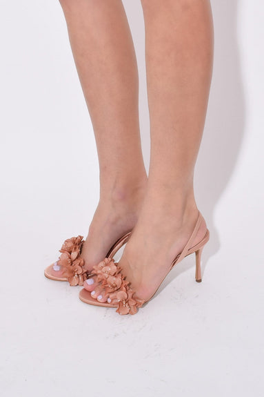 Follie Slingback in Dark Rose Satin