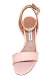Leticia Heel in Pink Embossed Croc