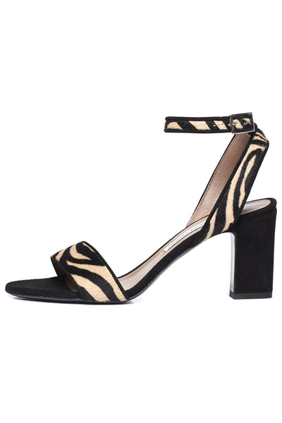 Leticia Heel in Zebra Hair