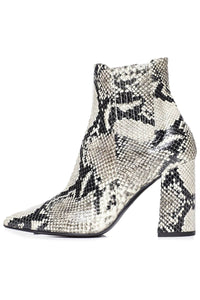Noa Boot in Roccia Embossed Python
