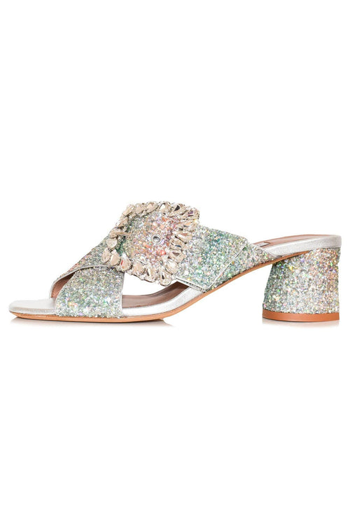Selena Crystal Sandal in Degrade Gilt