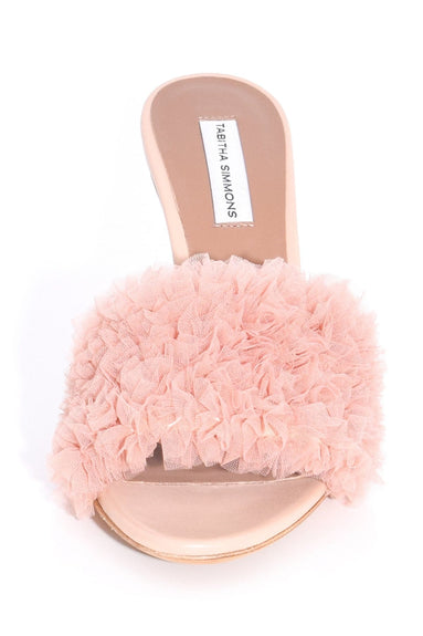 Whipsy Heel in Nude Tulle