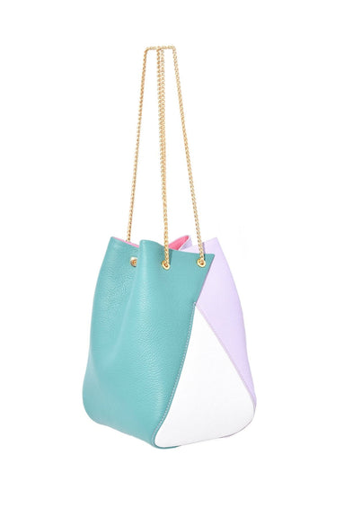 Mani Bag in Purple/Emerald