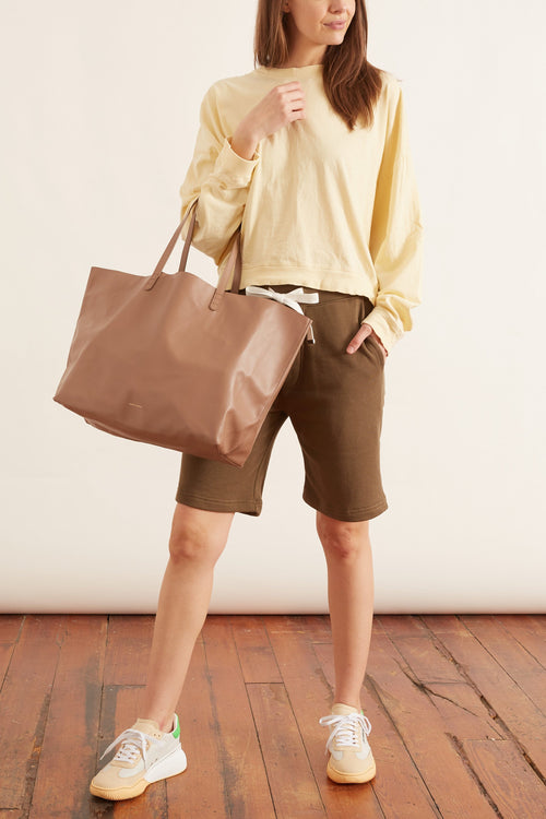 Sweatshirt Short in Loden