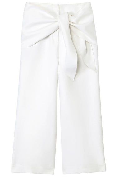 Compact Cotton Demi Cropped Pant in White