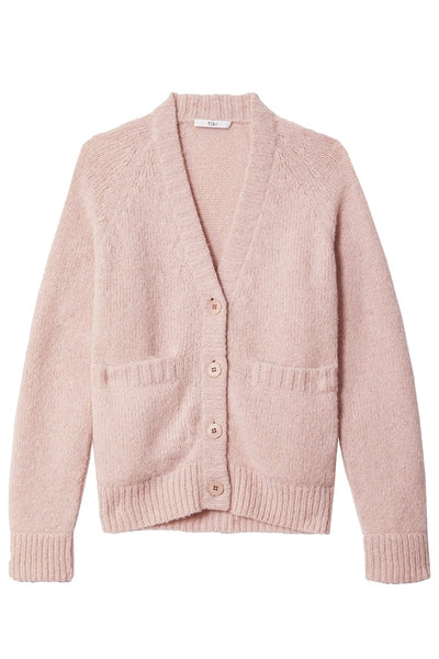Cozette Alpaca Raglan Cardigan in Pale Blush
