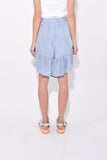 Cupro Ruffle Short in Blue Grey