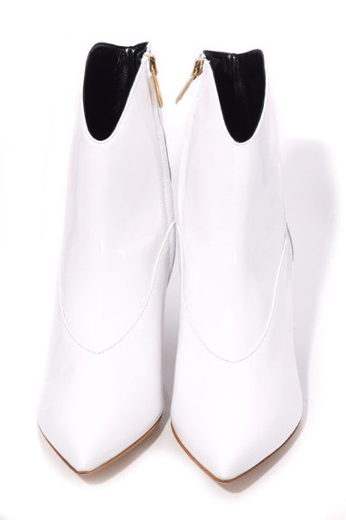 Dylan Polished Calf Boot in White