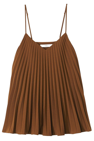 Edith Pleating Cami in Brown