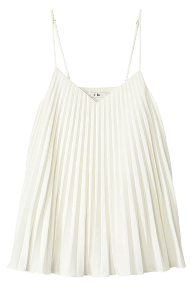 Edith Pleating Cami in White