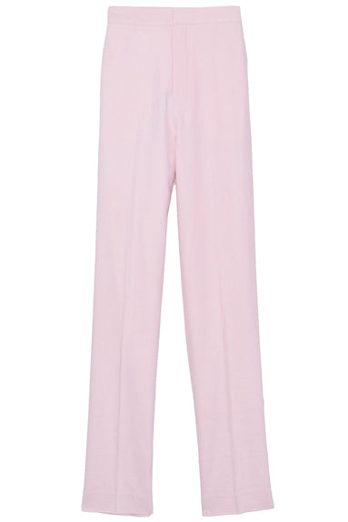 Linen Viscose High Waisted Sebastian Pant in Baby Pink