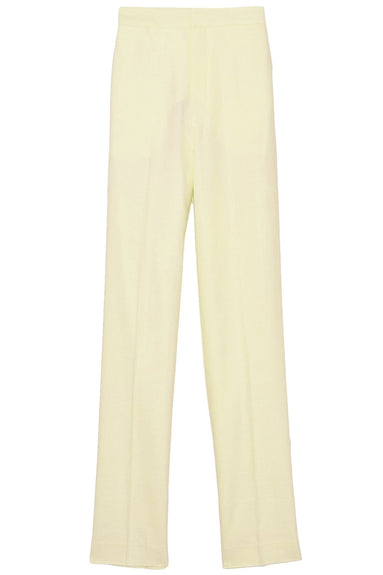 Linen Viscose Suiting High Waisted Sebastian Pant in Pale Yellow