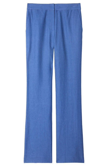 Linen Viscose Jamie Bootcut Pants in Blue