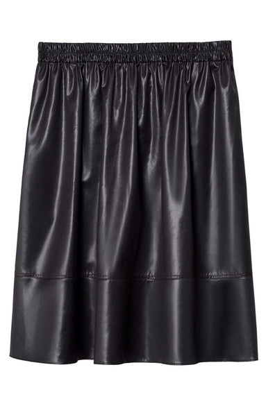 Liquid Drape Pull On Skirt in Pearl Black