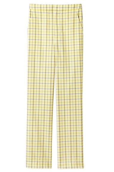 Marvel Plaid Taylor Pant in Yellow Multi