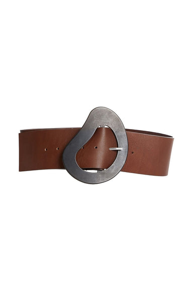 Organic Leather Thick Belt in Brown