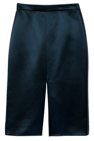 Satin Pencil Skirt in Navy