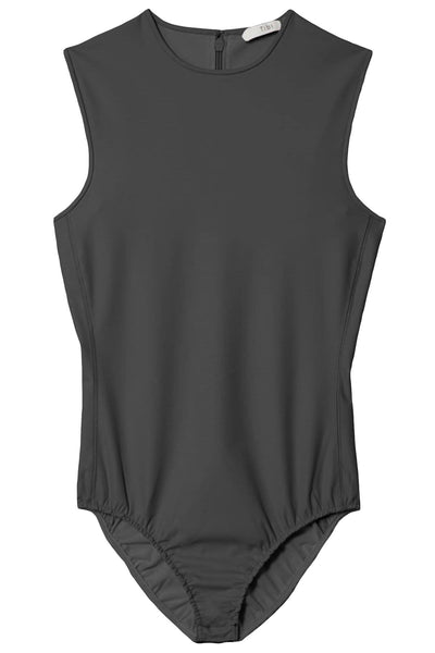 Scuba Sleeveless Bodysuit in Washed Black
