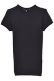Seamless Mini Sweater Baby Tee in Black