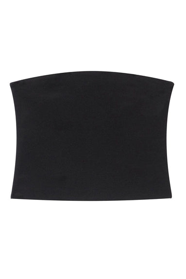 Structured Crepe Strapless Top in Black