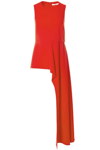 Triacetate Draped Top in Red