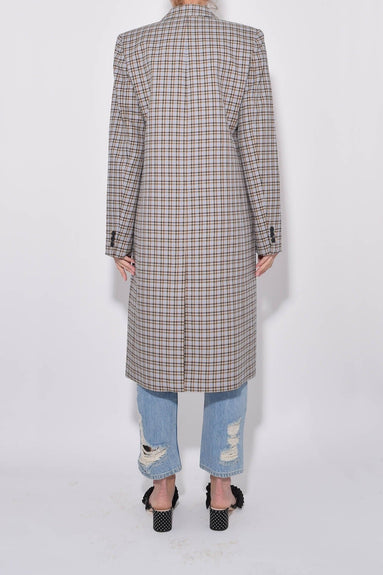 Zion Plaid Lab Coat in Tan Multi