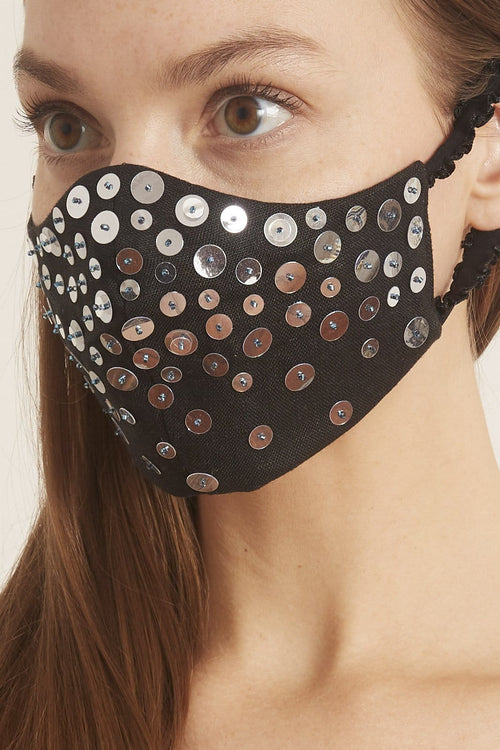 Black Full Sequin Mask