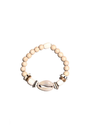 Cowrie Single Stack Bracelet in Ivory