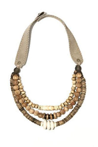 Layered Classic Woods Necklace in Taupe