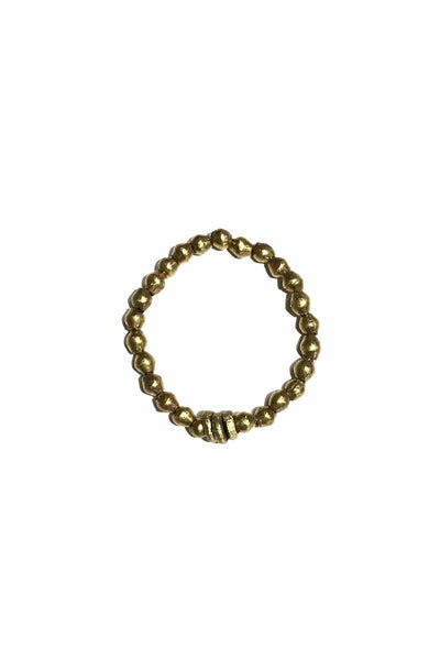 Metal Single Stack Bracelet in Gold