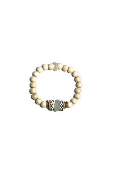 Single Stack Signature Bracelet in Ivory