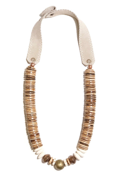Stacked Classic Sunkissed Necklace in Taupe
