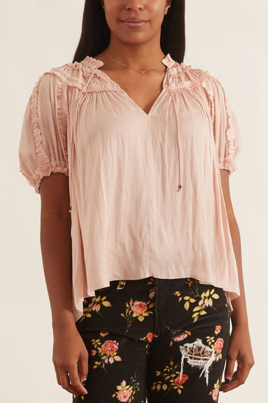 Aimee Blouse in Peony