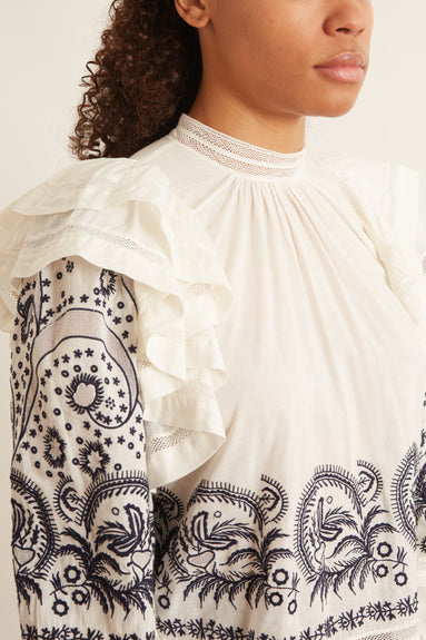 Annetta Blouse in Blanc