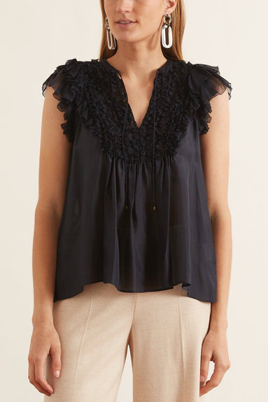 Evona Top in Midnight