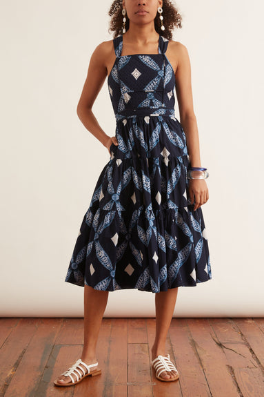 Jiya Dress in Indigo