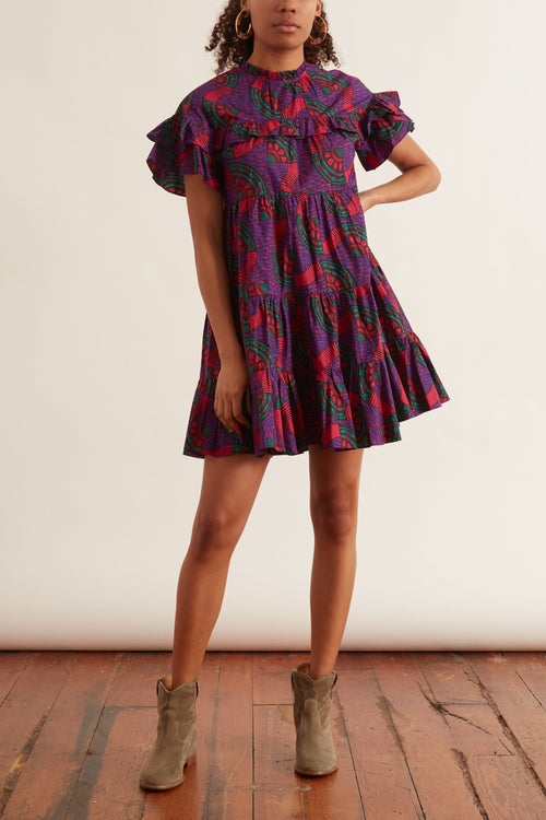 Leonie Dress in Violet