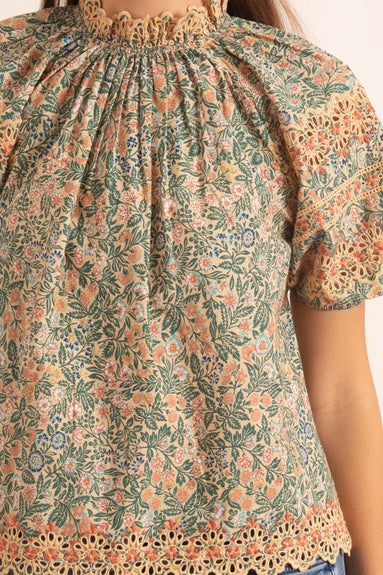 Loma Blouse in Peach