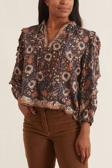 Manet Blouse in Obsidian