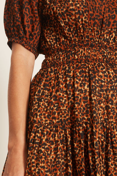Mariana Dress in Leopard