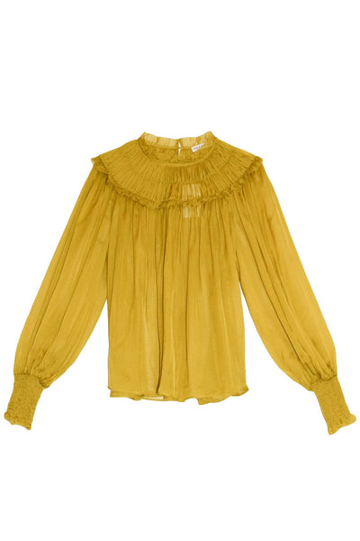 Arabella Blouse in Chartreuse