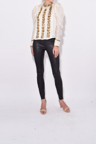 Danette Blouse in Blanc