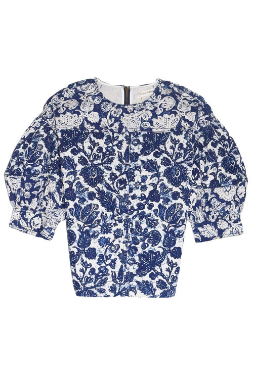 Rue Top in Floral Patchwork